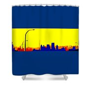 Toronto C N Tower From Front Street Bridge Shower Curtain