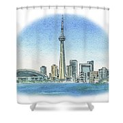 Toronto Canada City Skyline Shower Curtain