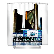 Toronto City Hall Graphic Poster Shower Curtain