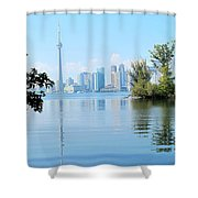 Toronto From The Islands Park Shower Curtain