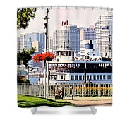 Toronto Island Ferry Arrives Shower Curtain