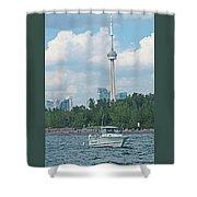 Toronto Island  Shower Curtain