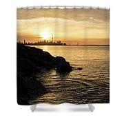 Toronto Lakeshore Vortex - Shower Curtain