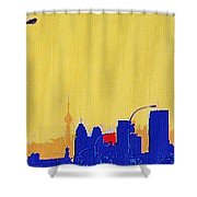 Toronto Lemon Skyline Shower Curtain