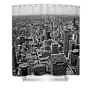 Toronto Ontario Scrapers In Black And White Shower Curtain