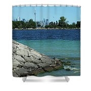 Toronto Shoreline Shower Curtain