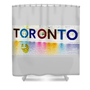 Toronto Sign In Muted Colours Shower Curtain
