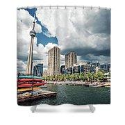 Toronto - Skyline / Harbourfront Shower Curtain