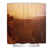 Toroweap Overlook Storm Sunrise Shower Curtain