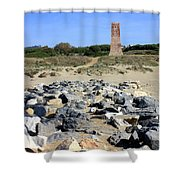 Torre De Los Ladrones At Cabopino Shower Curtain