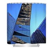 Torre Mare Nostrum - Torre Gas Natural Shower Curtain by Juergen Weiss