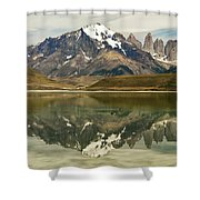 Torres Del Paine Shower Curtain