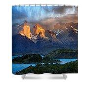 Torres Del Paine National Park, Chile Shower Curtain