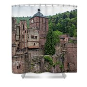 Torturm And Seltenleer Heidelberger Schloss Shower Curtain