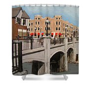 Tosa Village Bridge Shower Curtain
