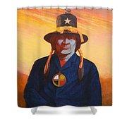 Tosh-a-wah,peneteka Comanche Chief Shower Curtain