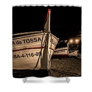 Tossa De Mar By Night Shower Curtain