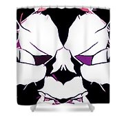 Total Eclipse Of The Rose Abstract Shower Curtain