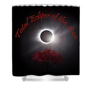 Total Eclipse Of The Sun In Art Shower Curtain