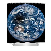 Total Solar Eclipse Casting Shadow Shower Curtain