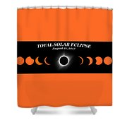 Total Solar Eclipse Stages Shower Curtain