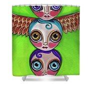 Totem Dolls Shower Curtain