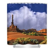 Totem Pole Monument Valley Shower Curtain