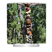 Totempole 390 Shower Curtain