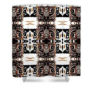 Totheme Black And Brown Shower Curtain