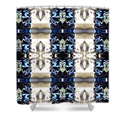 Totheme Blue Shower Curtain
