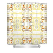 Totheme Yellow Shower Curtain