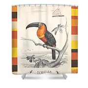 Toucan Bird Responsible Travel Art Shower Curtain