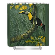 Toucan In Jungle Shower Curtain