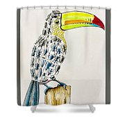 Toucan - You Are What You Eat Shower Curtain