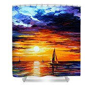Touch Of Horizon Shower Curtain