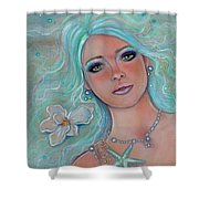 Touch Of Spring Mermaid Shower Curtain