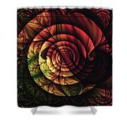 Touch Of Sunshine Abstract Shower Curtain