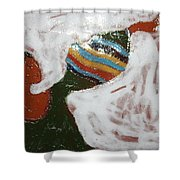 Touch The Sky - Tile Shower Curtain
