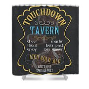 Touchdown Tavern Shower Curtain
