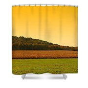 Touched By Golden Light - Battlefield Orchards Shower Curtain
