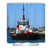 Tough Tugboat Shower Curtain