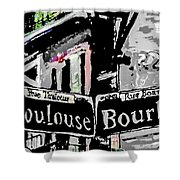 Toulouse And Bourbon Shower Curtain