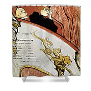 Toulouse-lautrec, 1893 Shower Curtain