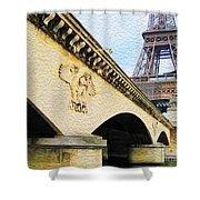 Tour De Eiffel Shower Curtain