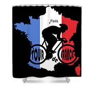 Tour De France 3 Shower Curtain