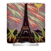 Tour Eiffel Et Ovni Shower Curtain