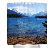 Touring Maligne Lake Shower Curtain