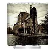 Tourist Office Norrkoping In Old Effect Shower Curtain