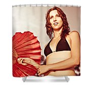Tourist On Asian Vacation Shower Curtain