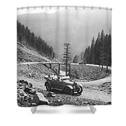 Tourists In Yellowstone Shower Curtain
